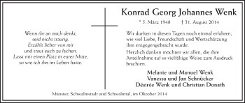 Zur Gedenkseite von Konrad Georg Johannes