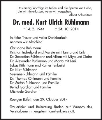 Zur Gedenkseite von Kurt Ulrich