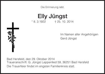 Zur Gedenkseite von Elly