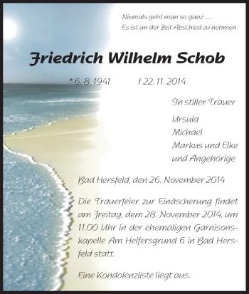 Zur Gedenkseite von Friedrich Wilhelm