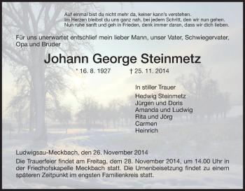 Zur Gedenkseite von Johann George