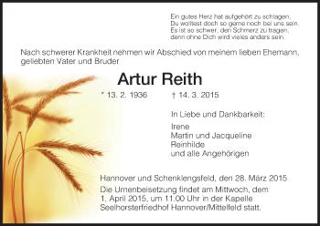 Zur Gedenkseite von Artur