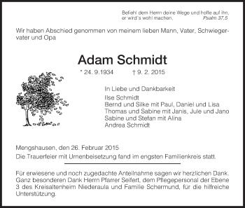 Zur Gedenkseite von Adam