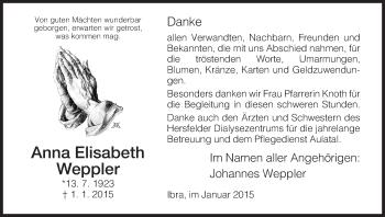 Zur Gedenkseite von Anna Elisabeth