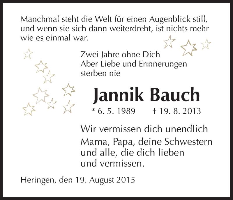 Anzeige von  Jannik Bauch