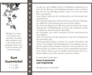 Traueranzeige für Kurt Susemichel vom 11.05.2019 aus Hersfeld