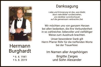 Traueranzeige von Hermann Burghardt von Hersfeld